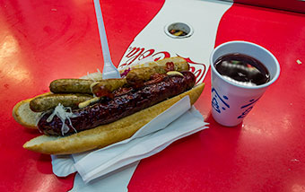 Hot dog with Prague's sausage, Czech Republic