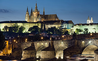 Prague Castle by night, Czech Republic