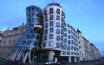 Dancing House in Prague, Czech Republic