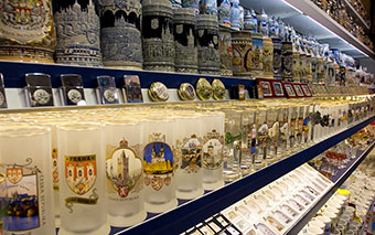 Souvenir shop in Prague, Czech Republic