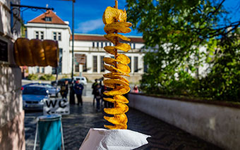 Spiral potato, Czech Republic