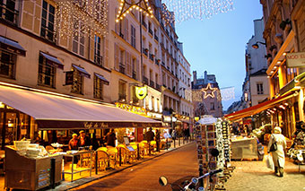 Street in the Latin Quarter in Paris, France