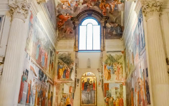 Brancacci chapel in Florence, Italy