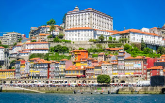 Ribeira district in Porto, Portugal