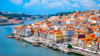 The seafront in Porto, Portugal