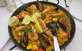 Local food: paella in Barcelona, Spain