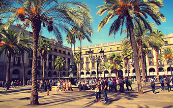 The Royal Plaza in Barcelona, Spain