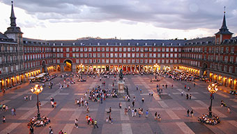 Main Square (Plaza Mayor) in Madrid, Spain
